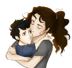 Little Percy Jackson and Sally revised sketch. So cute!