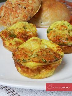 muffiny śniadaniowe Breakfast Time, Baked Potato, Kids Meals, Paleo, Lunch Box, Low Carb, Pizza, Ethnic Recipes, Pierogi