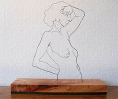 Gavin Worth - wire sculpture, drawing, painting, and creation Sculptures Sur Fil, Wire Sculptures, Minimal Art, Sculpture Metal, Wire Drawing, Trash Art, Henry Moore, Wire Art, Metal Art