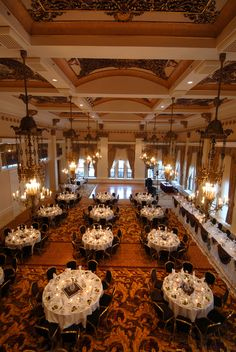 The Pfister Hotel's Imperial Ballroom - This Victorian-designed ballroom with an impressive 32-foot-high ceiling lends an aura of grace reminiscent of days past. Learn more about hosting your Milwaukee wedding in this fabulous venue on marcusweddings.com.