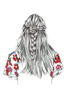 Hair braid illustration