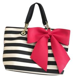 Betsey Johnson Black, White, Red Tote Bag. Get one of the hottest styles of the…