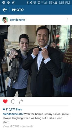 My life has been made! JIMMY FALLON AND BRENDON!