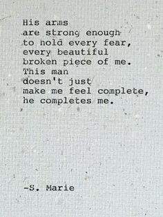 He makes me a stronger person.