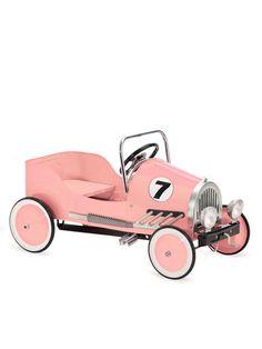 Pink Retro Pedal Car