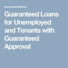 Guaranteed loans for those people, who are struggling for funds, work as the real live saver. At Loan for Tenant, these loans are provided with customised deals to reduce your overall financial stress. Moreover, the terms and conditions of loans are quite feasible.