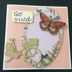 Kort / card Cykel / bicycle Sommerfugl / butterfly