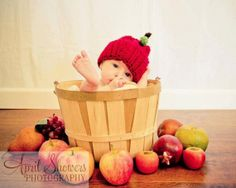 6635e6a8012 Crochet Apple of my eye beanie made to order by PinkPoppiesStudio
