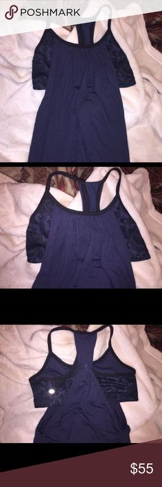 Lululemon Women's Dark Blue sports Tank. Dark blue, comes with built in sports bra. Stretchable and very comfortable. Negotiable with prices. lululemon athletica Tops Tank Tops