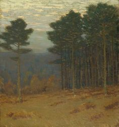 """Tall Pines,"" Charles Warren Eaton, oil on canvas, 30 x 28"", private collection."
