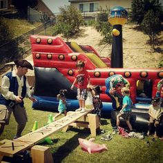 Pirate party: Walk the plank!