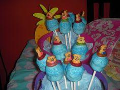 Cake pops at a Beach swim party #beach #swimpartycakepops