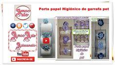 Porta papel Higiênico de garrafa pet  http://amocarte.blogspot.com.br/