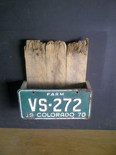 old license plate magazine holder