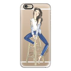 iPhone 6 Plus/6/5/5s/5c Case - Daydreaming in Denim-Brooklit-Fashion... (145 QAR) ❤ liked on Polyvore featuring accessories, tech accessories, iphone case, clear iphone cases, iphone cover case, apple iphone cases and slim iphone case
