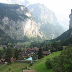 Lauderbrunnen - went here during law school. most beautiful place I've ever been.