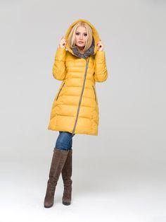 Модні жіночі куртки · Пальто желтое пуховое - Veralba b0682b08e38d0