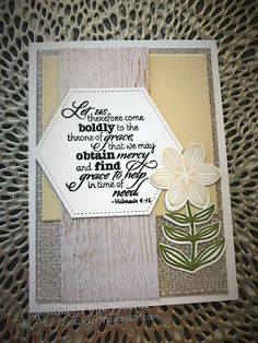 Handmade card by Marlena M using the New Mercies stamp set from Verve. #vervestamps
