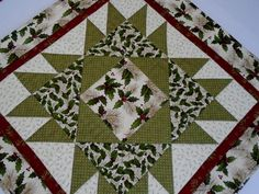 Christmas Star Quilted Table Runner, Winter Quilted Table Topper, Country Table Quilt, Christmas Quilt, Quilted Wall Hanging, Woodland Pines by ForgetMeNotQuilteds on Etsy