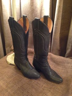 Western cowgirl Justin gray leather boots on Etsy, $19.00 SOLD