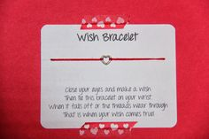 Sometimes Creative: Valentine Wish Bracelet DIY