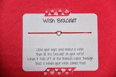 Sometimes Creative: Valentine Wish Bracelet DIY