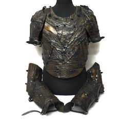 Studded Bark Armor Set Elf Armor, Larp Armor, Cosplay Armor, Medieval Armor, Wood Elf, Wood Wood, Shoulder Armor, Body Adornment, Period Outfit