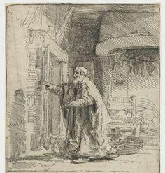 De blinde Tobias: grote plaat, Rembrandt Harmensz. van Rijn, 1651 - Rijksmuseum