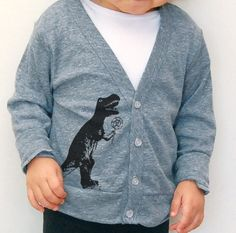 T Rex Dinosaur Cardigan Sweater! Why can't they make this in adult sizes????