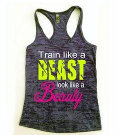 Workout Tank. Look Like A Beauty. Train Like A by Built2InspireU, $22.00