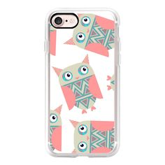 Owls 3ED - iPhone 7 Case, iPhone 7 Plus Case, iPhone 7 Cover, iPhone 7... ($40) ❤ liked on Polyvore featuring accessories, tech accessories and android case