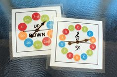Musical alphabet and interval spinners