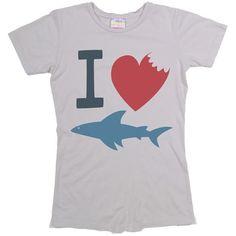Women's I Heart Shark Tee, Shark Allies T-Shirt, I Love Sharks Graphic T Shirt at PalmerCash.com