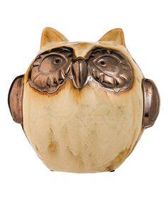 Metallic Shimmer Owl Figurine #zulily #zulilyfinds