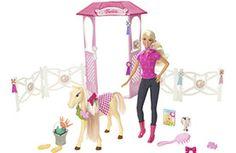 Barbie de joven en su establo