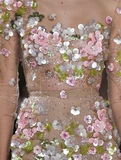 Fashion Details | Rosamaria G Frangini | Pink  Dress, Embroidered Detail, via Mary Rose