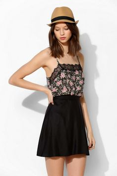Pins And Needles Lace-Trim Pin Dot Cami #urbanoutfitters
