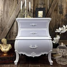 a curvy girl with secrets bombe chest, painted furniture, shabby chic