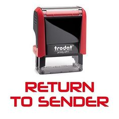 RETURN TO SENDER Office Self-Inking Office Rubber Stamp (Red) - M