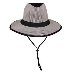 Guy Harvey Men s Cotton Safari Hat with Mesh Crown and Matching Chin Cord eeee4c9e335f