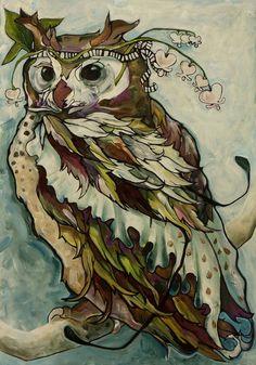 'Owl With Bleeding Hearts' by Sarah Cruse