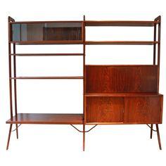 Kurt Ostervig Freestanding Rosewood Bookshelf | 1stdibs.com