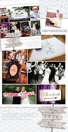 """Steal this idea and incorporate some cute signs into your wedding day! What better way to capture the first day of the rest of your life than with a sign that says, """"The Beginning"""". So sweet! Photos by Tracy Autem Photography, Simple Moments Photography, Helmutwalker Photography, KJ Images and Perez Photography #wedding #signs"""