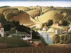 Once my attention was truly piqued concerning Grant Wood I wanted to go to Cedar Rapids, Iowa. Although Grant Wood spent his first years growing up on a farm in Anamosa (a short distance from Stone… Jan Van Eyck, American Gothic, American Life, Harlem Renaissance, Pablo Picasso, Grant Wood Paintings, Artist Grants, Stone City, Whitney Museum