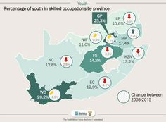 skilled youth per province Infographics, South Africa, Youth, Maps, Infographic, Info Graphics, Young Adults, Visual Schedules, Teenagers