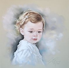 Custom Pastel portrait of a young girl, Grayson
