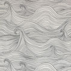 I'm not a wallpaper person, but Abigail Edwards' new Seascape wallpaper would be so perfect for an accent wall.