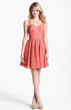 BB Dakota 'Tibet' Eyelet Fit & Flare Dress | Nordstrom