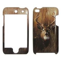 Deer on Grass Camo Camouflage Hunting Hard Cell Phone Cases for Apple ipod Touch 4 iTouch 4
