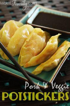 Pork & Veggie Potstickers - Favorite Family Recipes